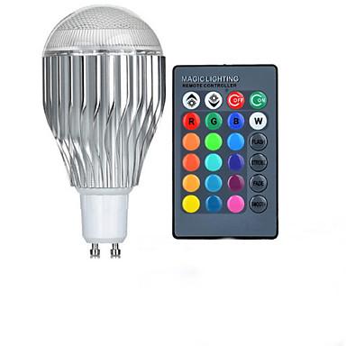10 W GU10 LED-globepærer A50 1 LED Perler Højeffekts-LED Fjernstyret RGB 85-265 V / 1 stk.