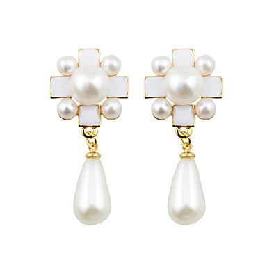 Earring Cross Shape Smykker Dame Mote Bryllup / Party / Daglig / Avslappet Legering 1 par Rose / Hvit