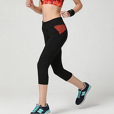 Femme Respirable Doux Compression Lisse Bas pour Course/Running Orange S M L XL