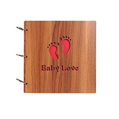 diy 26 * 26 cm-es 12 colos fa burkolat merített fényképalbumban 30db fekete papírt család / gyermek / szerelmesek / ajándékok