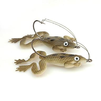 4 pcs Cebos Rana Plástico blando Pesca de Mar / Pesca al spinning / Pesca de agua dulce / Pesca de Perca / Pesca de Cebo / Pesca en General