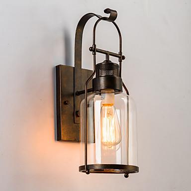 Rustikk / Hytte Vegglamper Metall Vegglampe 220V / 110V 60W