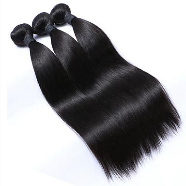 Cheveux Malaisiens Droit Tissages de cheveux humains 3 Pièces Tissages de cheveux humains