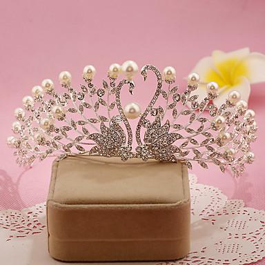 נשים פנינה ריינסטון סגסוגת כיסוי ראש-חתונה אירוע מיוחד נזרים חלק 1
