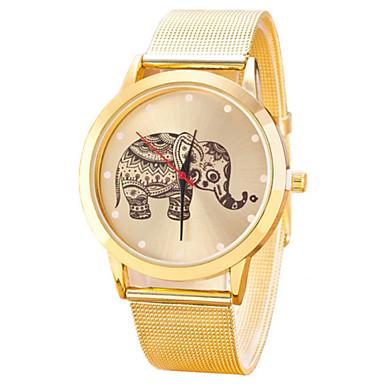 Mulheres Relógio de Moda Quartzo Relógio Casual Aço Inoxidável Banda Dourada