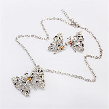 Schmuckset Halskette / Ohrringe Modisch Europäisch Tierform Schmetterling Silber Halsketten Ohrringe Für Party Alltag Normal 1 Set