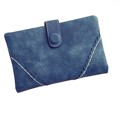 Femme Polyuréthane Formel / Décontracté / Soirée / Fête / Shopping Portefeuille Bleu / Marron / Rouge / Noir