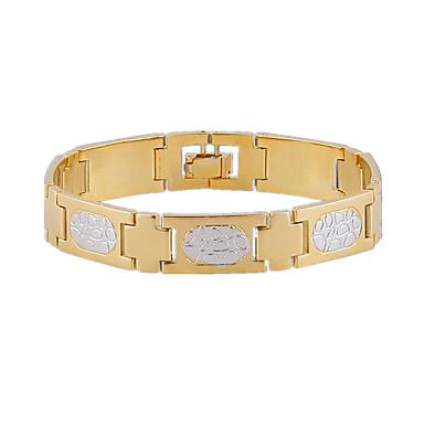 Armbänder Ketten- & Glieder-Armbänder Aleación / Titanstahl Hochzeit / Party / Alltag / Normal / Sport Schmuck Geschenk Goldfarben,1 Stück