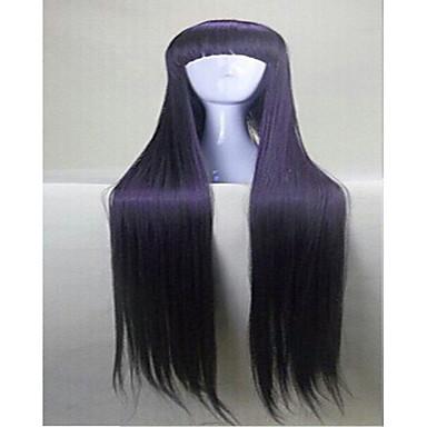 hairjoy Femme Perruque Synthétique Droite Violet Avec Frange Perruque Déguisement