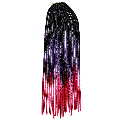 Heklede fletter 100% kanekalon hår 1 Dreadlocks / Faux Locs dreadlocks Hårfletter