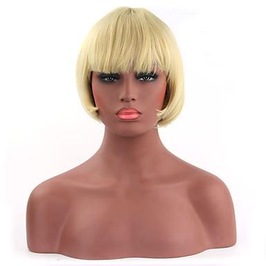 natürliche kurze blonde Farbe beliebt bobo synthetische Perücke für Frau