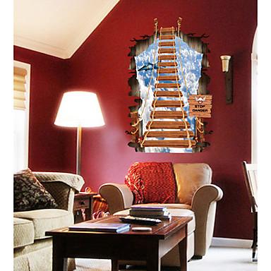 Autocollants muraux décoratifs - Autocollants muraux 3D Bande dessinée Salle de séjour / Chambre à coucher / Cuisine / Amovible
