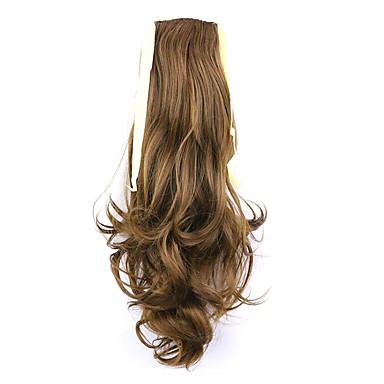 comprimento de ouro 50 centímetros venda direta da fábrica ligamento tipo de cabelo rabo de cavalo rabo de cavalo onda (cor 27)