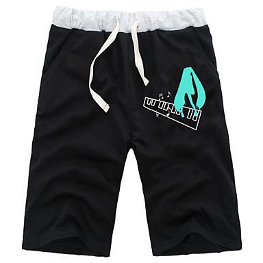 Inspirert av Vokaloid Hatsune Miku Anime Cosplay Kostumer Cosplay Topper / Bottoms Ensfarget Svart / Gray Shorts