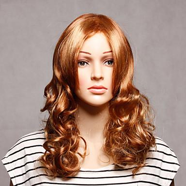 Synthetische Haare Perücken Wellen Kappenlos Medium