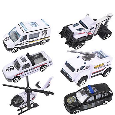 dibang - nye politi rekke barn leker legering politibil modell lekebil (6pcs)