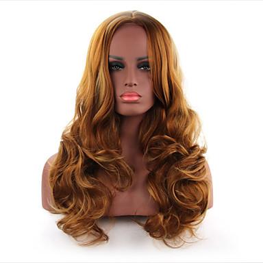 שיער סינטטי פאות גלי ללא מכסה ארוך