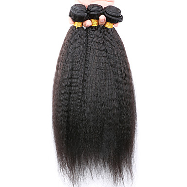 Cabelo Humano Ondulado Cabelo Peruviano 12 meses 3 Peças tece cabelo