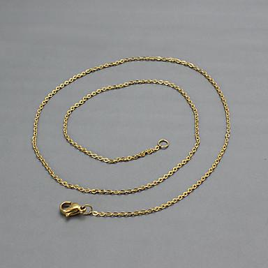 Feminino Gargantilhas Colares com Pendentes Aço Titânio 18K ouro Moda Jóias Para Diário Casual