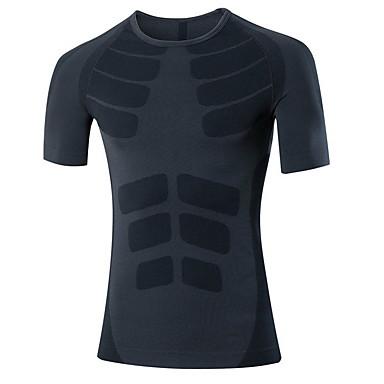 Homme Tee-shirt de Course Séchage rapide Respirable Hauts/Top pour Exercice & Fitness Course/Running Gris Rouge Vert M L XL