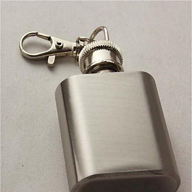 1 once chaîne principale liqueur de flacon millésime miniature en acier inoxydable