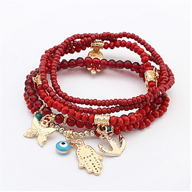 Damen Armbänder Kette Alluminium / Harz Imitierte Perlen