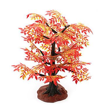 sable de construction usine de résine d'arbre de simulation de modèle de table toy érable rouge scène mini jardinage