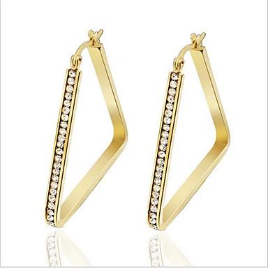 Dame Mote Luksus Smykker Personalisert Titanium Stål Fuskediamant Sirkelformet Geometrisk Form Trekant Formet Smykker TilFest Daglig