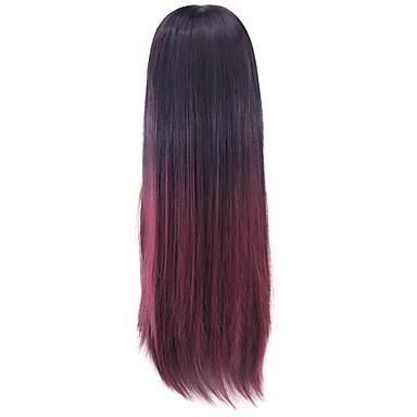 Syntetiske parykker / Kostumeparykker Syntetisk hår Paryk Dame Sort / Bourgogne