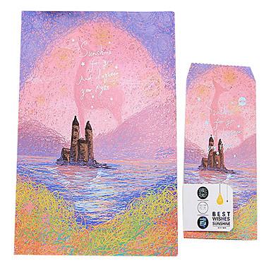 Dreamland (3 lettre fixé enveloppe 6 papeterie, enveloppes de papeterie 17 * 11cm, 18 * 28cm, motif aléatoire)