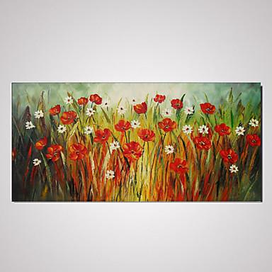 håndmalt lerret oljemaleri blomst abstrakt med strukket ramme