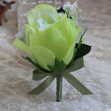 Hochzeitsblumen Freigeformt Rosen Knopflochblumen Hochzeit Partei / Abend Polyester Satin