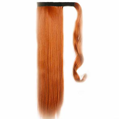 marrom 60 centímetros sintética de alta temperatura fio peruca cabelo liso cor rabo de cavalo 119