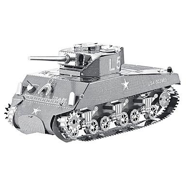 Quebra-Cabeças 3D Quebra-Cabeças de Metal Brinquedos de Montar Tanque Metal Aniversário Dia dos namorados 8 a 13 Anos