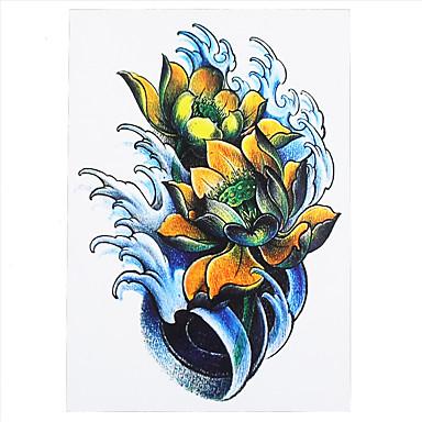 8pcs Women Men Body Art Temporary Tattoo Dragonfly Lotus Flower