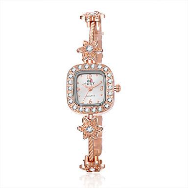 Damen Quartz Armband-Uhr Armbanduhren für den Alltag Legierung Band Blume / Elegant / Modisch Gold
