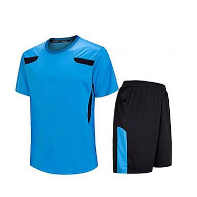 Homme Football Shirt + Shorts Ensemble de Vêtements/Tenus Respirable Séchage rapide Printemps Eté Automne Hiver Classique Térylène