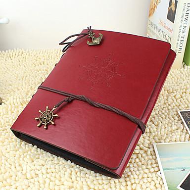 DIY 20 * 28 cm Lederbezug handgefertigt Sammelalbum Fotoalbum 30pcs schwarzes Papier für Familie / Baby / Geliebte / Geschenke rot /