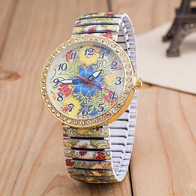 Mujer Reloj de Pulsera La imitación de diamante Aleación Banda Flor / Moda Múltiples Colores / Un año / Tianqiu 377