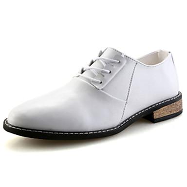 Homme Chaussures Polyuréthane Printemps Automne Confort Oxfords pour Mariage Décontracté Bureau et carrière Soirée & Evénement Blanc Noir