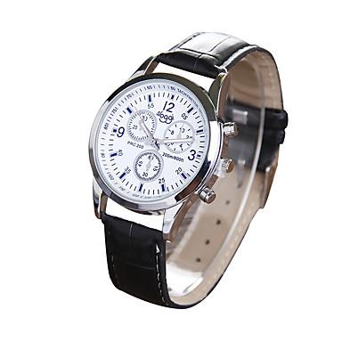 Herren Modeuhr Quartz Armbanduhren für den Alltag PU Band Schwarz Braun