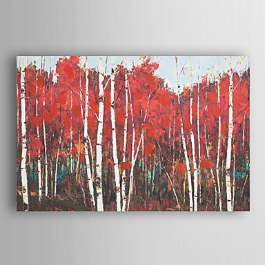handgemaltes Ölgemälde Landschaft abstrakt Scheune mit gestreckten Rahmen 7 Wand ARTS®