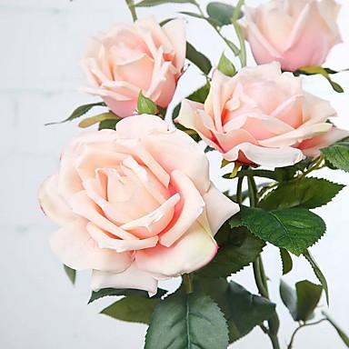 1 Une succursale Soie Roses Arbre de Noël Fleurs artificielles 82(32.3