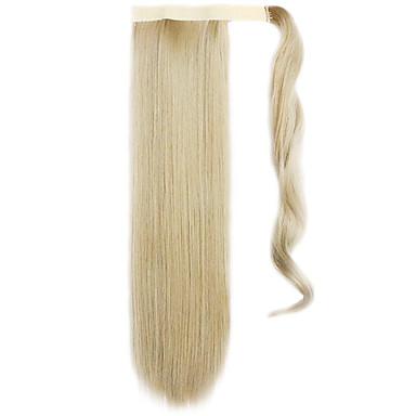 dourado 60 centímetros sintética de alta temperatura fio peruca cabelo liso cor rabo de cavalo 16