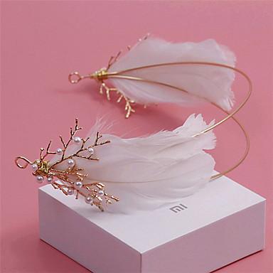 Perla Artificial / Brillante / Pluma Diademas con 1 Boda / Ocasión especial / Al aire libre Celada