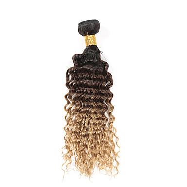Düz Brezilya Saçı Dalgalı İnsan saç örgüleri 3 Parça 0.3