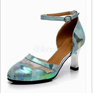 Damen Schuhe für den lateinamerikanischen Tanz Spitze / Leder Absätze Schnalle Kubanischer Absatz Keine Maßfertigung möglich Tanzschuhe