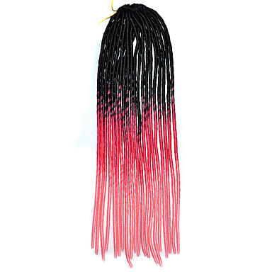 20 inch horgolt puha dreadlock Havanna mambo csavar fonással haj ombre fekete színű rózsa rózsaszín