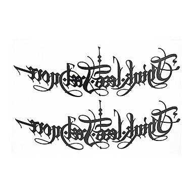 8pcs engelsk brev ord blomst arm skulder leddet vanntett midlertidig tatovering for kvinner kroppskunst falsk tatovering klistremerke