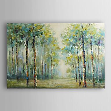 handgemaltes Ölgemälde Landschaft Sommer Wald mit gestreckten Rahmen 7 Wand ARTS®